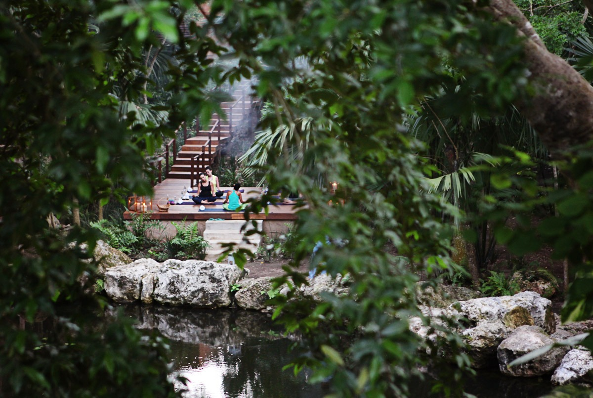 Full Moon Yoga by the Cenote